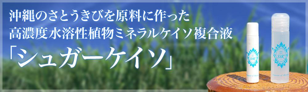 沖縄のさとうきびを原料に作った高濃度水溶性植物ミネラルケイソ複合液「シュガーケイソ」